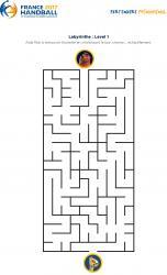 Un jeu en ligne à imprimer pour les enfants - Labyrinthe championnat du monde de Handball