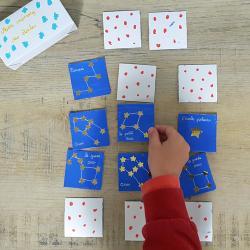 tuto bricolage enfants jeu memory des étoiles