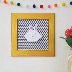 TUTO pour apprendre à réaliser un tableau lapin en origami