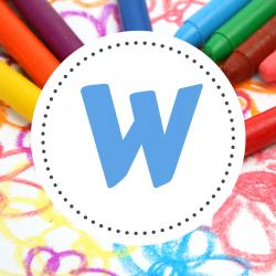 Coloriages de prénoms lettre W