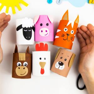 Retrouvez un tuto simple et fabriquez des animaux en rouleaux de papier toilette facilement avec les enfants.
