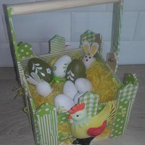 Un tuto pour réaliser un panier de Pâques en plâtre et décopatch