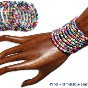 Bracelets en grosses perles de rocaille