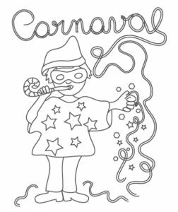 Coloriage De Carnaval.Coloriage Carnaval Tous Les Dessins A Imprimer De Tete A