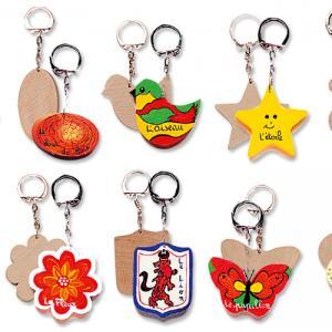 Porte-clefs en bois à décorer