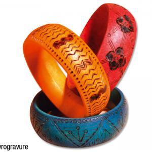 Bracelet pyrogravé