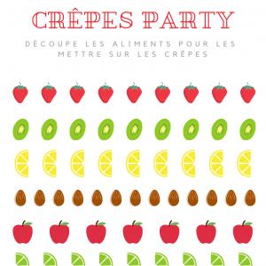 Imprimez gratuitement les aliments pour décorer les crêpes. Activité parfaite pour la Chandeleur et pour faire l'activité Montessori pour les maternelles