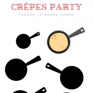 Imprimez gratuitement cette activité pour la Chandeleur. Retrouvez la bonne ombre de la poêle afin de pouvoir manger la crêpe.