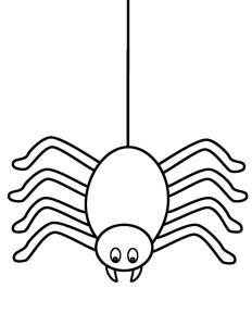 Coloriage araignée #02