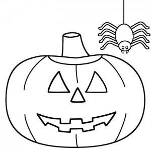 Coloriage araignée : un dessin à imprimer gratuitement avec une effrayante araignée. Page 08