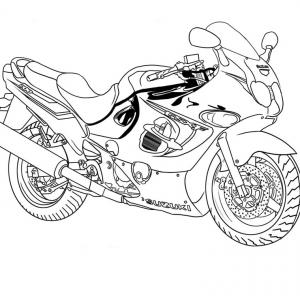 Coloriage de la moto du super héro batman
