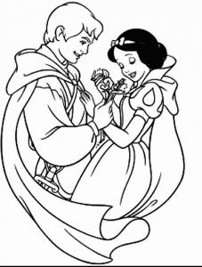 Coloriage Blanche neige #1
