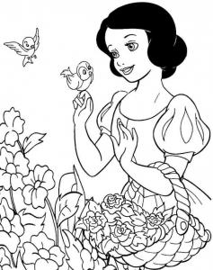 Coloriage Blanche neige #7