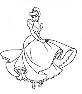 Coloriage Cendrillon #1