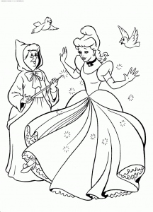 Coloriage Cendrillon #6