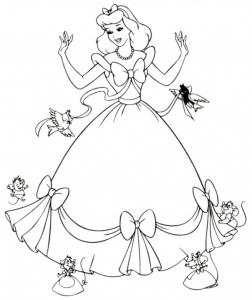Coloriage Cendrillon #9