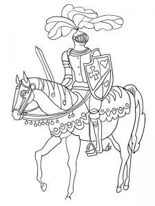 Coloriage chevalier #10