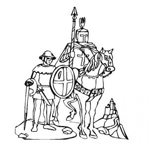 Coloriage chevalier #3