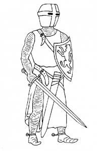 Coloriage chevalier #5