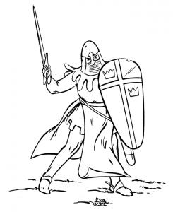 Coloriage chevalier #6