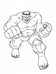 Coloriage de Hulk