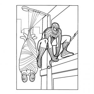 Coloriage de Spiderman #7