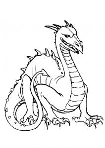 Coloriage dragon #6