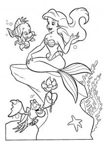 Coloriage La petite sirène #8