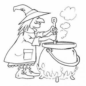 Coloriage sorcière #03