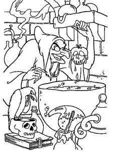 Coloriage sorcière #04
