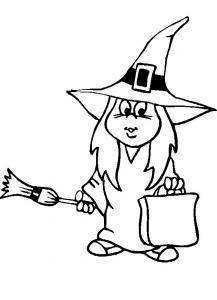 Coloriage sorcière #06