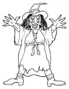 Coloriage sorcière #07