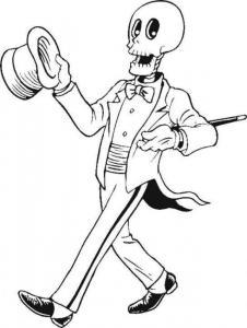 Coloriage squelette #04