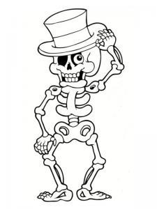 Coloriage squelette #06