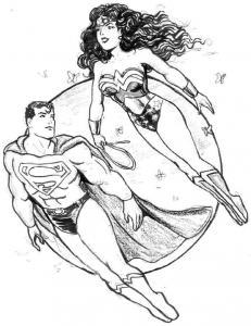 Coloriages De Wonder Woman
