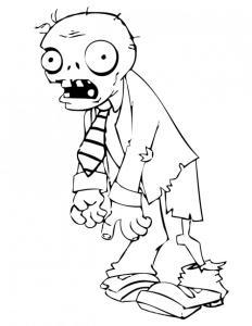 Coloriage zombie #01