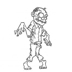 Coloriage zombie #04