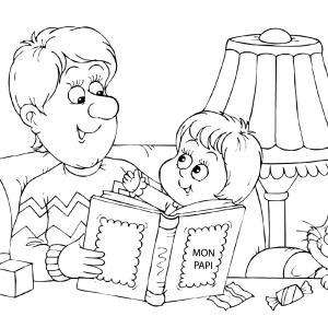 Voici un dessin de Grand Père à imprimer gratuitement. Un coloriage pour tous les enfants qui adorent leur papi. Page 02