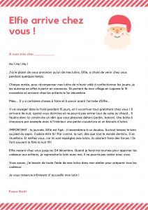 La lettre du lutin de Noël est une lettre du Père Noël adressée à votre enfant pour l'informer de l'arrivée de son lutin de Noël. Imprimez notre modèle de lettre gratuitement.
