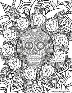 Mandala Halloween : un dessin à imprimer pour Halloween gratuitement sur le thème des mandalas. Page 01