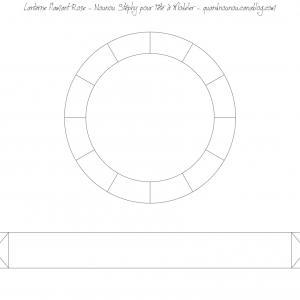 Patron à imprimer de la lanterne flamant rose partie 3/3 copie