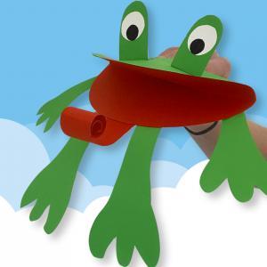 Que diriez-vous de fabriquer cette petite marionnette grenouille avec vos loulous ? Une activités parfaite à faire avec les enfants.    C'est facile et vous n'aurez besoin que de feuilles de papier couleur, une paire de ciseaux, un tube de co