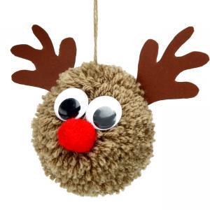 Découvrez une activité créative facile qui permettra aux enfants de fabriquer des rennes en laine tout doux à accrocher dans le sapin de Noël !    Ce bricolage de Noël sera l'occasion idéale pour apprendre aux enfants la technique pour fa