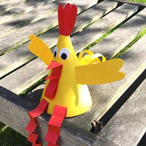Découvrez notre nouveau tuto pour réaliser facilement cette petite poule de Pâques en papier.  Au programme de ce bricolage, découpage, pliage et collage ! Une bonne cachette pour les oeufs de Pâques.    Nous vous avons même préparé un modèle gratu