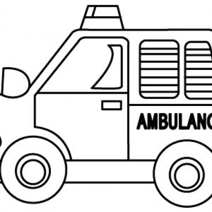 Ambulance 01 - motif à imprimer