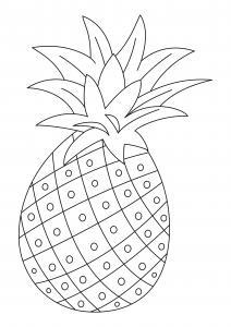 Ananas 01 - motif à imprimer