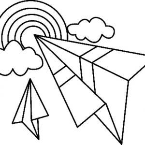 Arc-en-ciel 01 - motif à imprimer