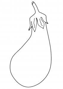 Aubergine 02 - motif à imprimer