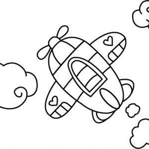 Avion 01 - motif à imprimer