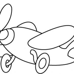 Avion 02 - motif à imprimer